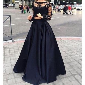 Black 2 piece occasion dress